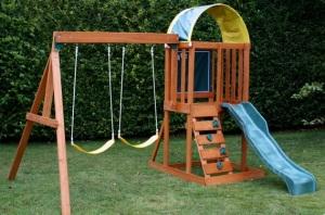 Finished swing set