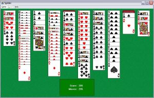 Spider solitaire--4 suits