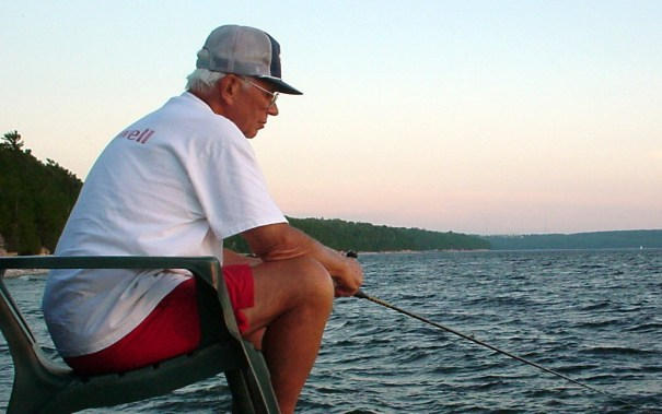 Uncle Bob fishing in Door County, Wisconsin.
