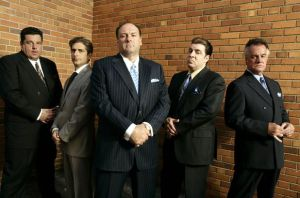 "The guys who made 'fuggedaboudit"" famous.  Tony Soprano and the cast of the Sopranos."