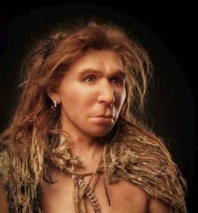 Recreation of Neanderthal woman