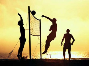 Beach volleyball in Uganda.  http://en.starafrica.com/sport/uganda-beach-volleyball-team-reach-secon-180712.html